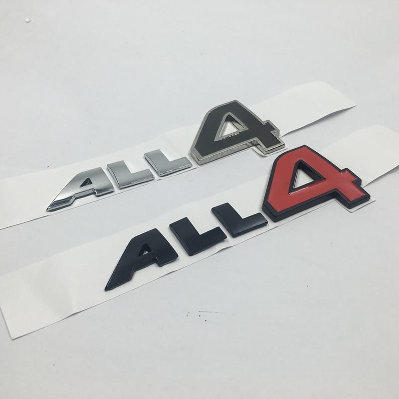 for MINI Cooper S Countryman Paceman All4 Emblem Metal Letters Door Fender Side Logo Badge Nameplate All 4  emblem