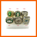 New Arrival Replica American Football 1961/1965/1966/1967/1996/2010 Green Bay Packers Set Championship Rings