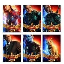 Captain Marvel 2019 Popular Movie Poster Art Silk Superhero Wall Print Picture Living Room Home Decor