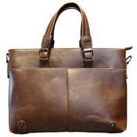 Men's shoulder bag British leisure retro style soft PU material high quality large capacity multi functional design
