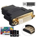 New DVI 24+5 Male to HDMI Female Converter HDMI 19Pin Male To DVI 24+5 Female Converter Adapter For PS3 HDTV Video Player