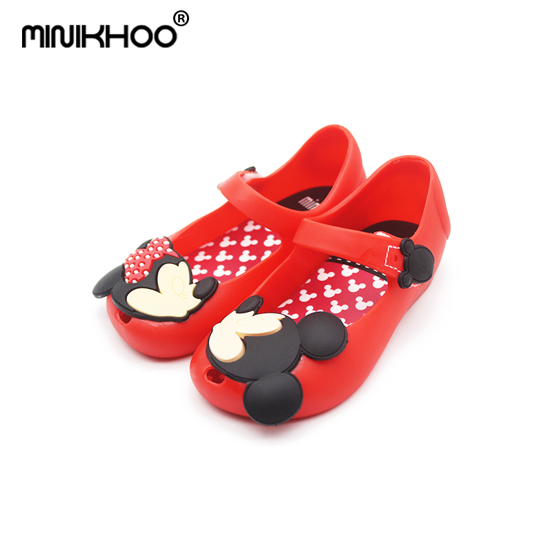 Mini Melissa 2018 New Baby Jelly Childrens Shoes Mickey Minnie Girl Fish Mouth Sandals Soft Bottom Childrens Beach Shoes