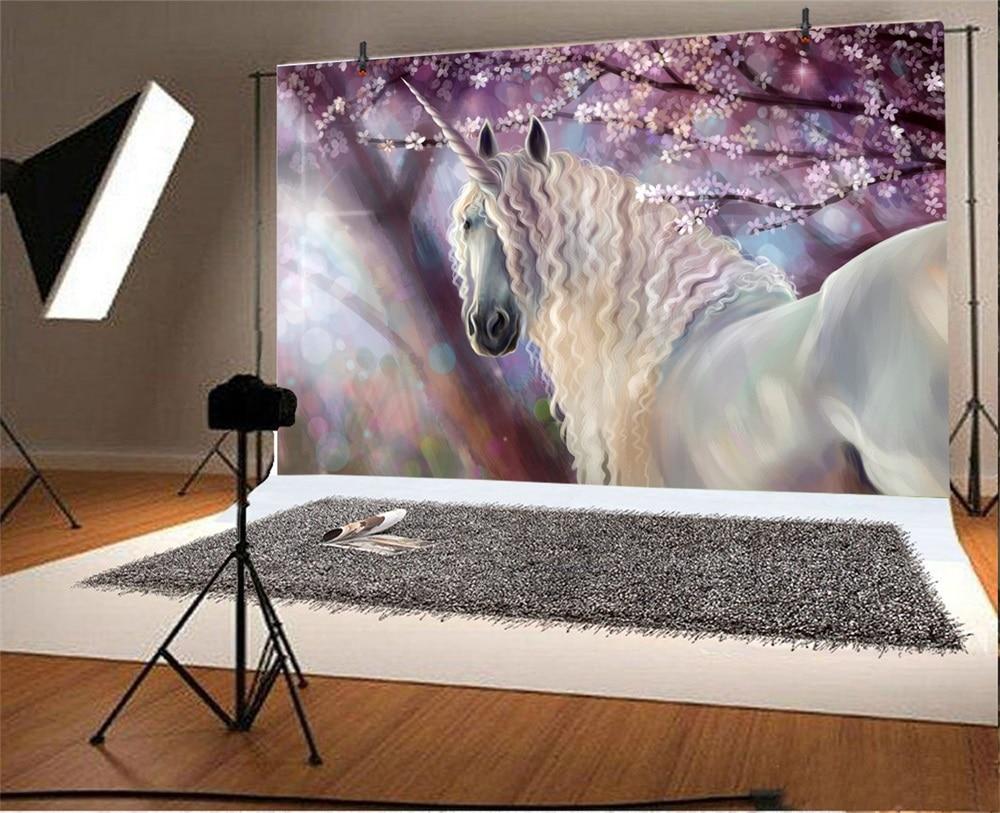 Laeacco Jungle Unicorn Lumina Bokeh Portret Scenic Fotografic - Camera și fotografia - Fotografie 2