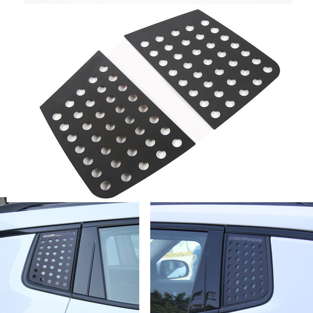 2x Aluminum Car Rear Door Window Triangle Cover Trim Moulding For Jeep Compass 2017+