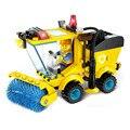 Crianças Brinquedos Educativos!!! caminhão limpa kit brinquedo diy montar blocos de construção 102 pçs/set