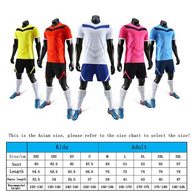 75d5645142 US $12.89 30% OFF|2019 New High Quality Kids Soccer Jerseys Sets  Survetement Football Kits Adult Men Child Futbol Training Cheap Uniforms  Sets DIY-in ...