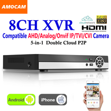 New 8CH Super XVR All HD 1080P 5-in-1 DVR CCTV Surveillance Video Recorder HDMI output with AHD/Analog/Onvif IP/TVI/CVI Camera