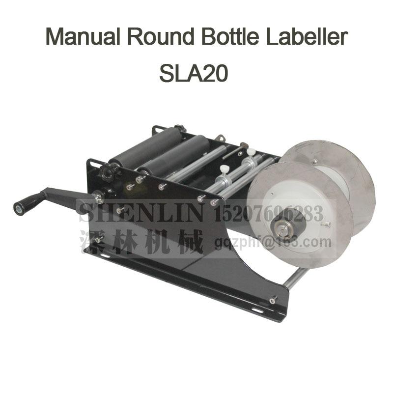 SHENLIN manuale etichettatura macchina nuovo stile della bottiglia rotonda etichettatrice piccolo applicatore di etichette tag rotolo applicare attrezzature per la bottiglia di vino