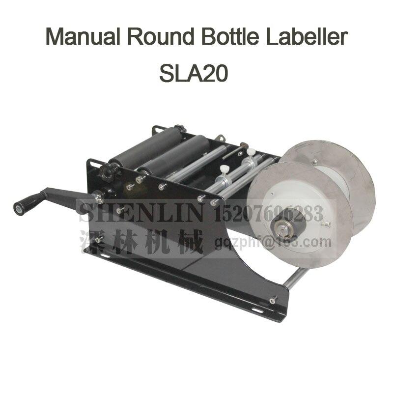 SHENLIN manuel machine à étiquettes nouveau style bouteille ronde étiqueteuse petit applicateur d'étiquettes tag rouleau appliquer équipement pour bouteille de vin