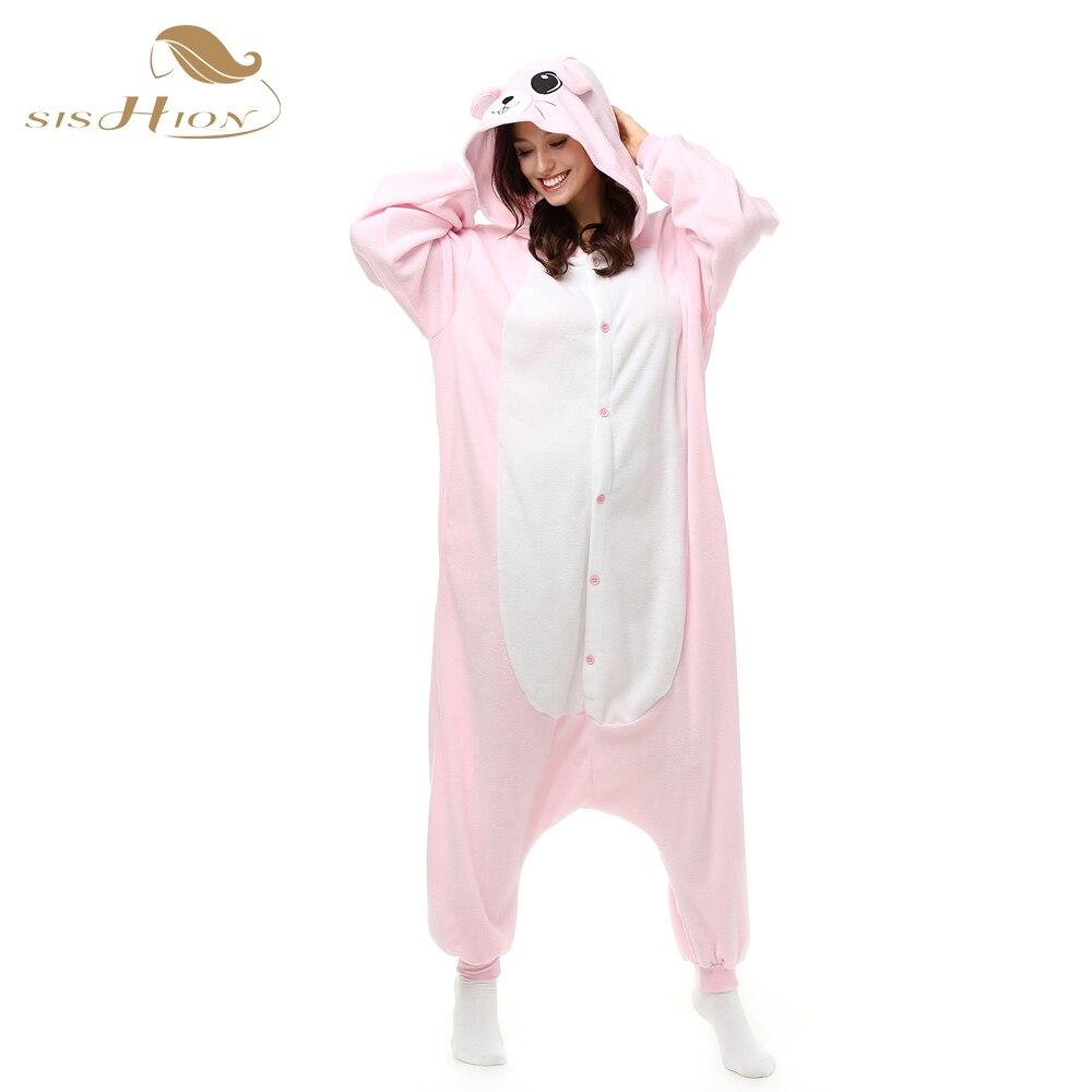 SISHION Christmas Pink Mouse Pajamas Animal Winter Women Cartoon Girls Onesies Adults Costume Homewear Pyjamas For party OS0011