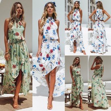 ZOGAA Womens Holiday Dress Summer Off Shoulder Floral Dresses Ladies Plus Size Beach Bohemian Style Female