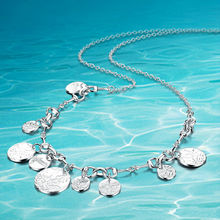 925 sterling silver necklace for women ;Solid design ;New fashion design; Sweet and lovely; free from vulgarity