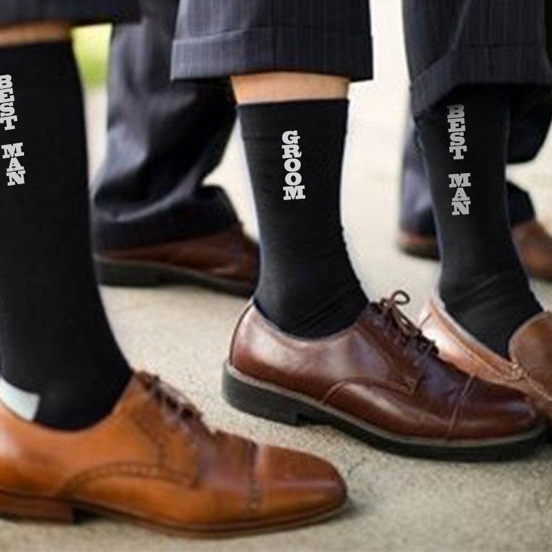 Wedding Favor And Gifts For Guests Groomsmen Gifts Socks Best Man Groom Souvenir Marriage Supply