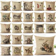 2017 Hot Selling Retro Girl Home Decorative Sofa Cushion Throw Pillow Case Cotton Linen Square Pillows cartoon christmas square cushion throw pillow case