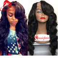 Virgin Brazilian U Part Wig Natural Wave Top Quality 7A U Part Human Hair Wig with Side Bangs Glueless Unprocessed Hair Wig Sale