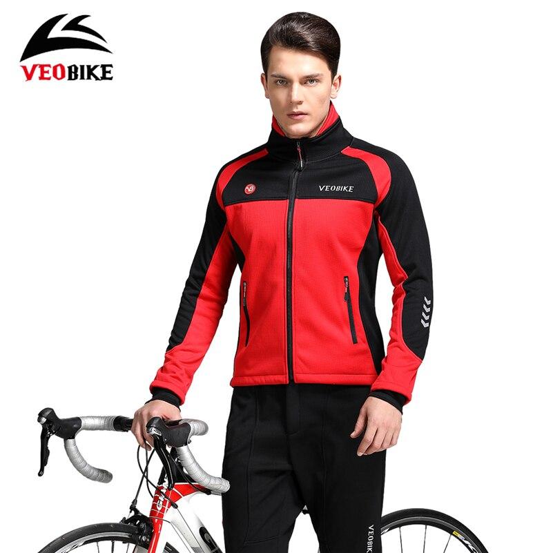 Veobike Велоспорт зимний комплект MTB дорожный велосипед Водонепроницаемый Термальность куртка комплект ветрозащитный флис Ropa Ciclismo Велосипед ...