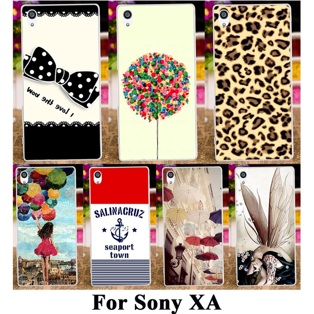 TAOYUNXI 3C Products Store Hard Plastic Soft TPU Silicon Phone Case For SONY Xperia XA F3111 F3112 F3113 F3115 5'' Cover 18 Patten Fashion Pictures Housing