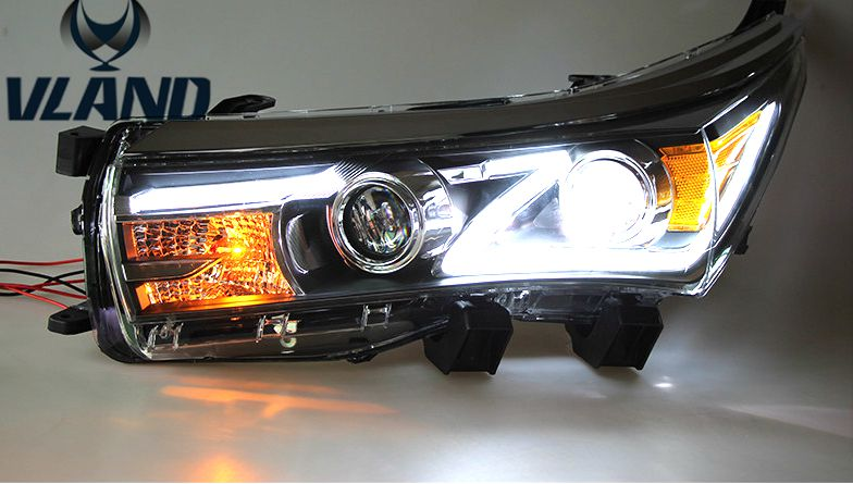 Free shipping vland factory Newest arriving!Best price for 2014-2016  Corolla  LED  headlight !High brightness!Xenon HID  lamp !