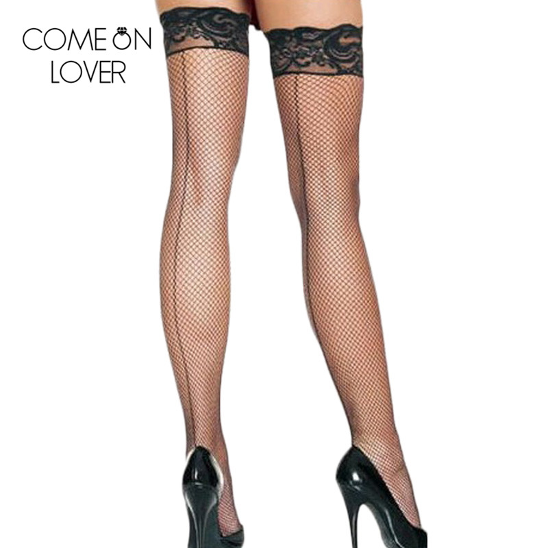 E2019 Black Color Over Knee Long Fishnet Stockings Popular Women Sexy Stockings Wholesale And Retail Lace Top Nylon Stockings