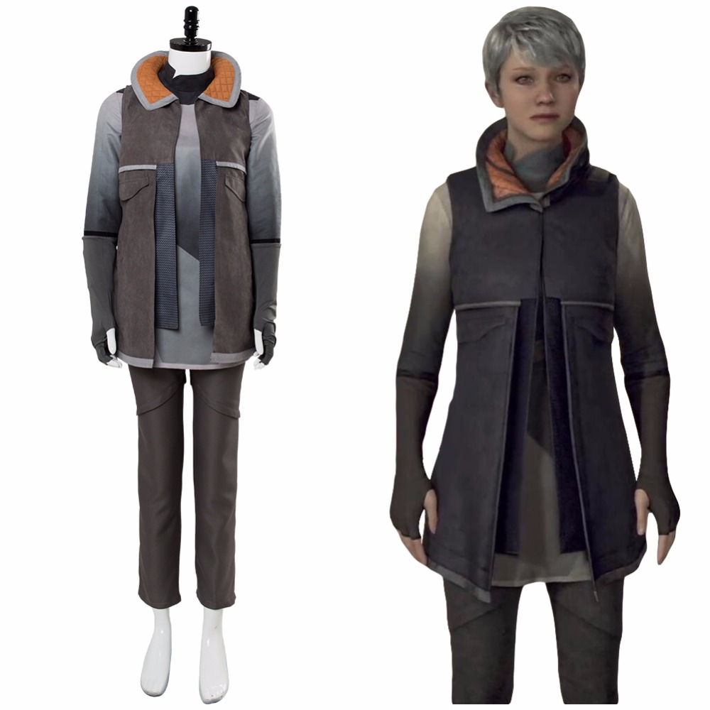 Detroit Become Human KARA Cosplay Costume AX400 Costume Refugee Uniform Escape Casual Outfit Halloween Masquerade Custom