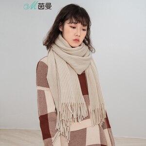 Image 4 - INMAN 1883140185 Schal Frauen Winter Kurze Korea Alle passenden Schal