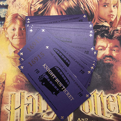 20 Pcs Harri Potter Knight Bus Ticket Limited Supply New arrive reloop rhp 20 knight