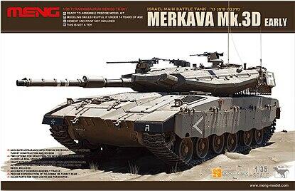 ФОТО Meng military assembled tank model TS-001 Mk.3D early Merkava MBT type