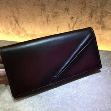 TERSE_Chinese manufacturer leather wallet man fashion purse in stock branded long wallet handmade genuine leather purse for man