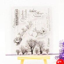 Санях decora новогоднее скрапбукинг штамп украшение поставки дерево прозрачный силиконовые дизайн