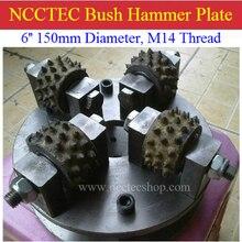 6 ''NCCTEC оцинкованная поверхность Буш молотковая пластина для Буш молотый гранит мрамор   150 мм поверхность литчи сплава колеса диск   4 Биты