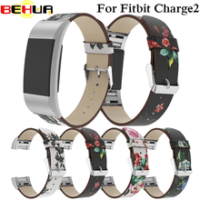 Replacement for Fitbit Charge 2 Charge2 Bands peon Leather Strap Band Interchangeable Smart Fitness Watch Band With Buckle Strap все цены