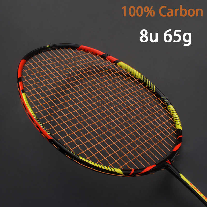 Ultralight 8U 65g Carbon Professional Badminton Racket Strings Strung Bag Multicolor Z Speed Force Raket Rqueta Padel 22-30LBS