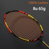 Ultralight 8U 65g Carbon Professional Badminton Racket Strings Strung Bag Multicolor Z Speed Force Raket Rqueta Padel 22 30LBS