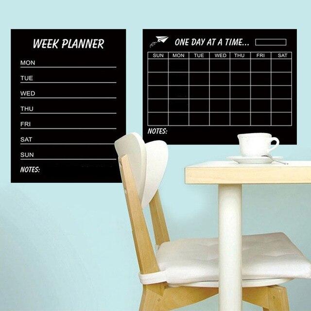 US $6.99 |[Fundecor] settimana piano Etichetta Lavagna Adesivi Da Muro per  bambini camere ufficio soggiorno cucina frigorifero della decorazione della  ...