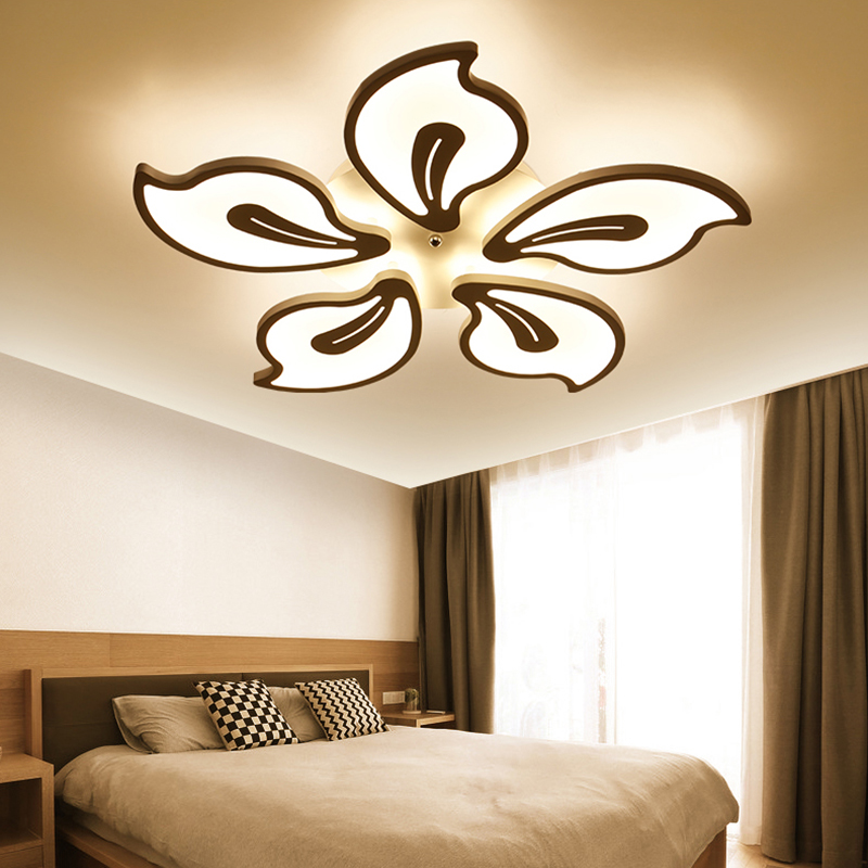 Acrylic Modern ceiling lights for living room bedroom White Simple Plafon led ceiling lamp home lighting fixtures AC85-260V black and white round lamp modern led light remote control dimmer ceiling lighting home fixtures