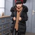 2016 Marca da Menina Real Para Baixo casacos/casacos de inverno Casacos grossos Casacos de Pele De pato casaco Quente Crianças Outerwears bebê-jaquetas de 30 graus