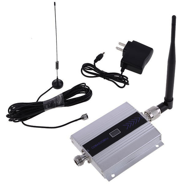 Quality High Gain GSM 850Mhz Mini Mobile Cell Phone Signal Booster CDMA Amplifier RF Repeater Kit And 10m cable
