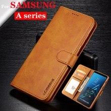 Брендированный флип-чехол из кожи для смартфона SAMSUNG A70 A60 A50 A40 A30 A20 A5 A6 A7 A8 A9 плюс держатель для карт чехол-бумажник Чехлы для телефона Fundas