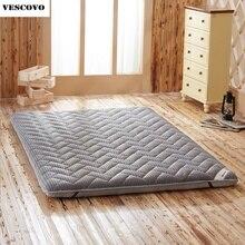 Colchón de espuma para masaje, colchón de dormitorio individual doble, de lino y fibra de bambú