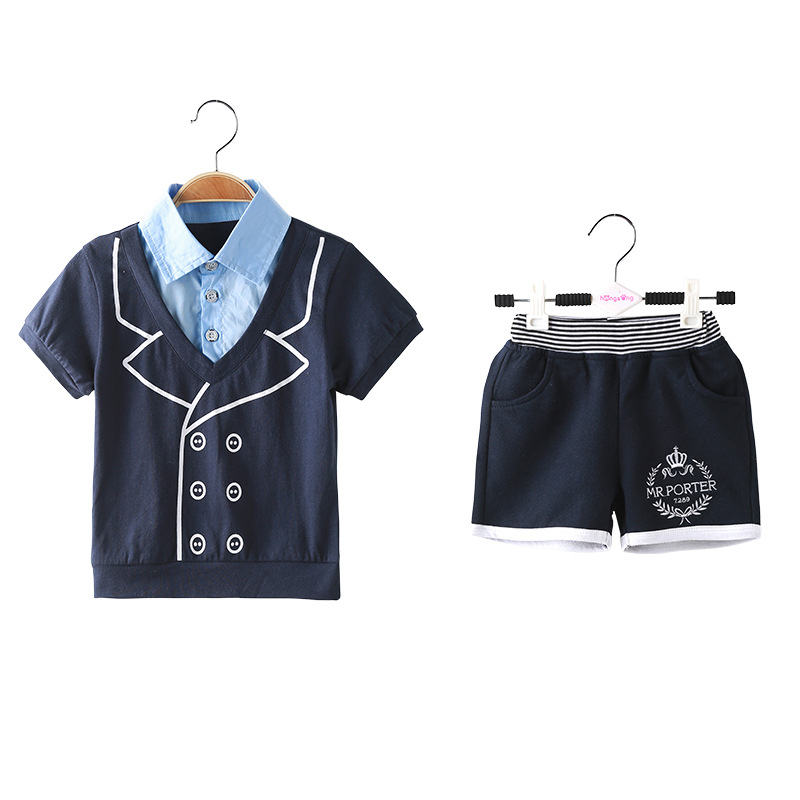 Nununu 2017 Kids Dresses for Boys 2018 Children S Gentleman Summer Clothes Set Baby Boy Thankful Outfits and Short Two Pcs