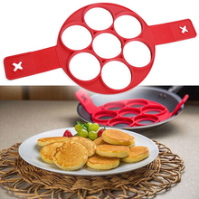 Pancake Cooking Tool Non Stick Silicone Egg Cheese Household Porous Cake Mold Kitchen Gadget