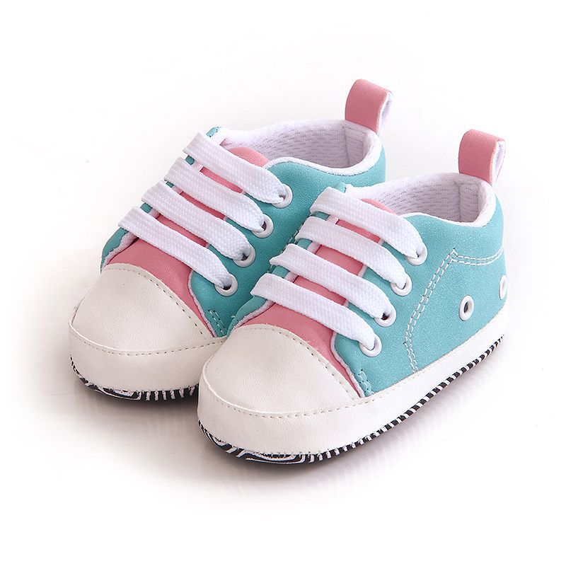 2017 Lovely Baby Sneakers Newborn Baby Crib Shoes Girls Toddler Laces Soft Sole Shoes For Christmas Gift J2