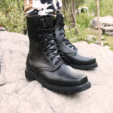 Steel Toe New Us Military Genuine Leather Boots Men Combat Bot Infantry Tactical Askeri Army Bots Work Safety Shoes