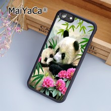 MaiYaCa Panda Bear Mother Cub Asia Wild Soft Rubber cell phone Case Cover For iPhone 6 6S phone cover shell(China)