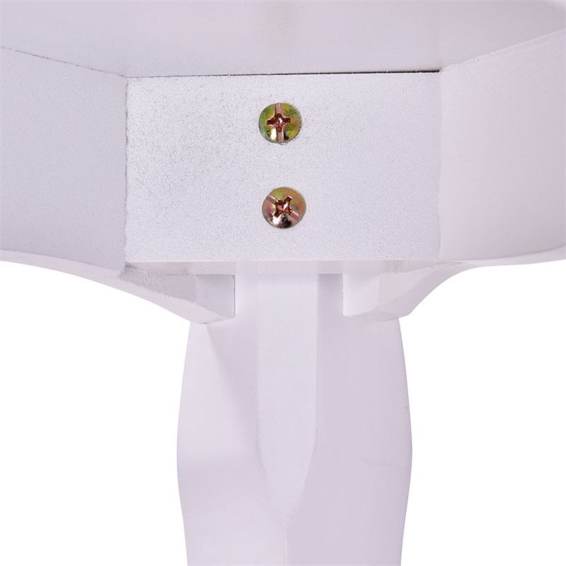 Blanc rembourré vanité tabouret Piano siège pin bois MDF panneau fleur coussin campagne en bois tabouret HB84672 - 6