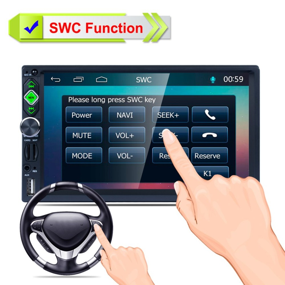 New 7inch Car MP5 Player Touch Screen Rear View Bluetooth Fast Charge FM/RDS Car Radio HD GPS Navigation Car Multimedia PlayerNew 7inch Car MP5 Player Touch Screen Rear View Bluetooth Fast Charge FM/RDS Car Radio HD GPS Navigation Car Multimedia Player