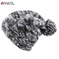 Vancol Cap Autumn Brand Unisex Ski Outdoor Casual Unisex Mens Warm Slouch Yarn Bonnet Gorro Hats Pur Pompom Women Winter Hat