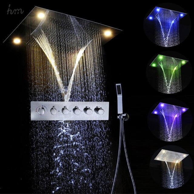 Aliexpress Com Buy Shower Sets Luxury Multifunction Led