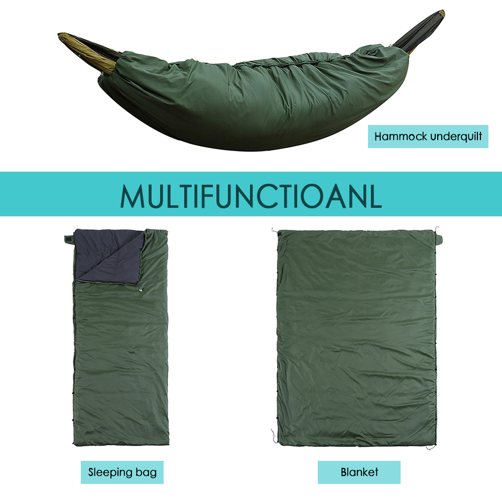 Image 3 - Multifunctional Camping Hammock Sleeping Bag Underquilt Lightweight Camping Quilt Packable Full Length Under Blanket-in Sleeping Bags from Sports & Entertainment