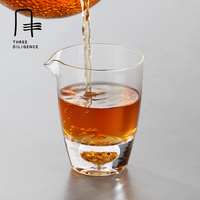 Glass Fair Serving Cups Kung Fu Tea Crystal Glass Bottles Thicken Mugs Clear Glass Tea Cup